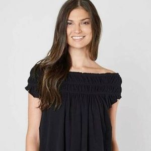 Free People Coconut Ruched Sleeveless Top sz.S